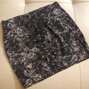 Betsey Johnson s Black white spatter mini skirt